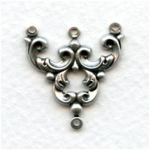 Three Strand Connectors OOH LA LA! Oxidized Silver (12)