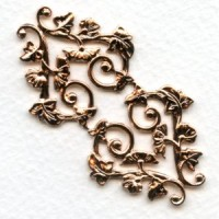 Morning Glory Motif Rose Gold Plated Stamping (1)