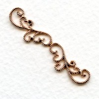 Elegant Filigree Detail 42mm Connector Oxidized Brass (2)