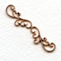 Elegant Filigree Detail 42mm Connector Rose Gold (2)