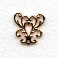 Feminine Filigree Y-Connector Rose Gold Plated (6)