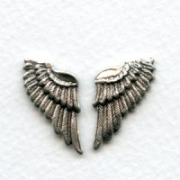 These Wings Look Real! Oxidized Silver (6 sets)