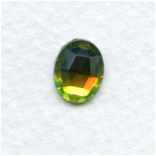 Vitrail Med Flat Back Faceted Top 10x8mm (4)
