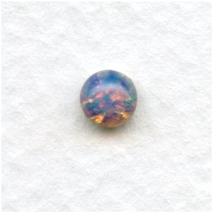Pink Fire Opal Glass Cabochons 5mm (4)