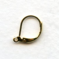 Lever Back Earring Finding with Loop Gold Plated (24)