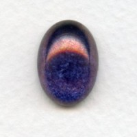 Purple Luster Effect Glass Cabs 18x13mm (2)