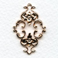 Feminine Floral Connector Rose Gold 36mm (2)
