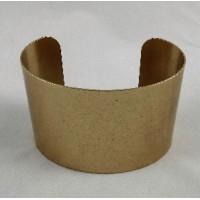 Men's Wide Cuff Oxidized Brass 49mm (1)