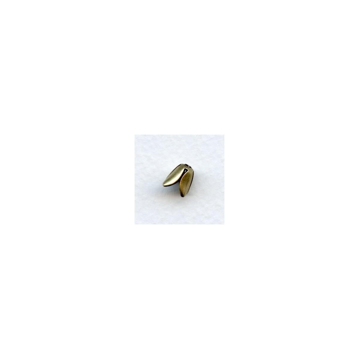 Smooth Tulip Style Bead Cap Raw Brass