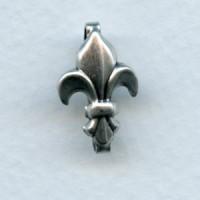 ^Fleur-de-Lis Bails 18mm Oxidized Silver (3)
