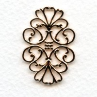 Filigree Flat Oval Connector Rose Gold 33mm (6)