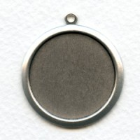 Bold Simple Settings 27mm Oxidized Silver (2)