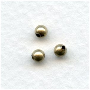 ^Round Seamed Burnished Gold 3mm Beads (50)