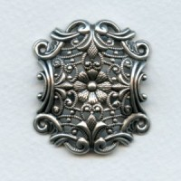*European Openwork Stamping Oxidized Silver 39mm (1)