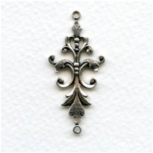Fancy Victorian Style 40mm Oxidized Silver (4)