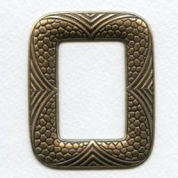 Embossed Detail Frame 65mm Stamping Oxidized Brass (1)