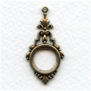 Elegant Art Deco Pendant Drops Oxidized Brass (6)
