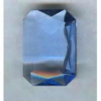 Light Sapphire Glass Octagon Jewelry Stone 25x18mm