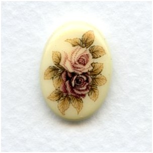 Victorian Style Floral Painting Decal 18x13mm (1)