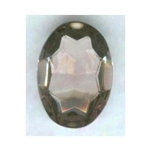 ^Light Amethyst Glass Oval Unfoiled Jewelry Stone 25x18mm