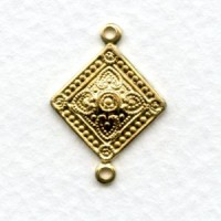 Quatrefoil Medallion Connector Raw Brass 22mm (6)
