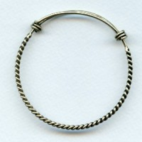 Expandable Twist Wire Bracelet Oxidized Brass (1)