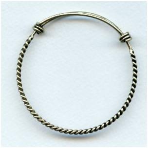 Expandable Twist Wire Bracelet Oxidized Brass (1)