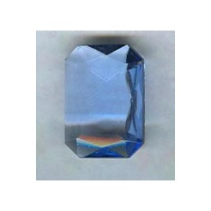 ^Light Sapphire Glass Octagons Unfoiled 14x10mm (2)