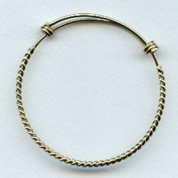 Expandable Twist Wire Bracelet Bright Gold (1)