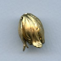 Dramatic Size Leaves Bead Caps Raw Brass (3)