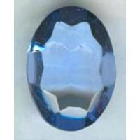 ^Light Sapphire Glass Oval Unfoiled Stone 18x13mm (1)