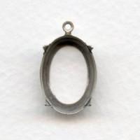 Open Back Settings Oxidized Silver 18x13mm (12)