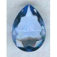 Light Sapphire Glass Pear Unfoiled 25x18mm