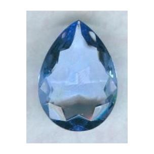 ^Light Sapphire Glass Pear Unfoiled 25x18mm
