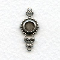 Ornate 5mm Setting Connectors Oxidized Silver (12)