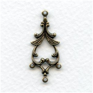 Fabulous Floral Connectors in Oxidized Brass 33mm (12)