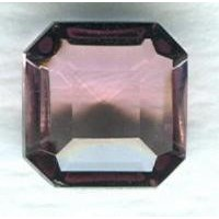 ^Light Amethyst Glass Square Octagon Stones 8x8mm