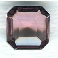 Light Amethyst Glass Square Octagon Stones 8x8mm