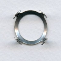 Open Back Turtle Settings 18mm Oxidized Silver (6)