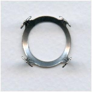 Open Back Turtle Settings 18mm Oxidized Silver (6)