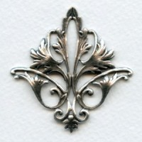 Fleur-de-Lys Openwork Stamping Oxidized Silver (1)