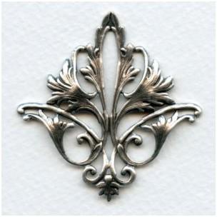 Fleur-de-Lys Openwork Stamping Oxidized Silver (1)