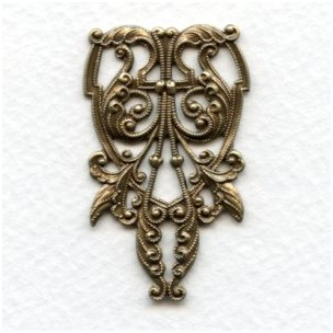 Elegant Victorian Centerpiece Oxidized Brass 44mm (1)