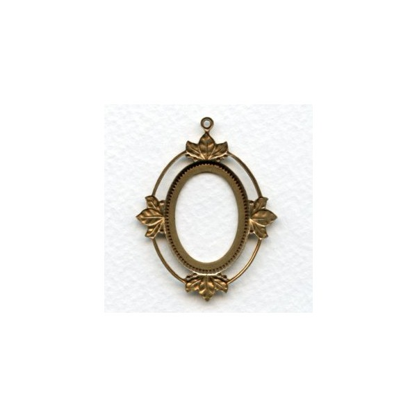 Floating Leaves Setting Frames Oxidized Brass 25x18mm (3 ...