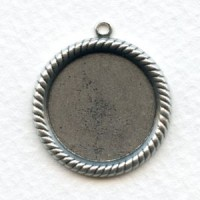 Rope Edge 21mm Settings Oxidized Silver (6)