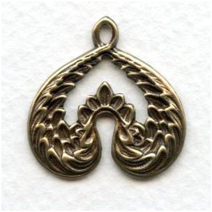 Creative Wings Pendant Oxidized Brass 26mm (4)