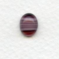 Glass Oval Cabochon 10x8mm Porphyr Amethyst