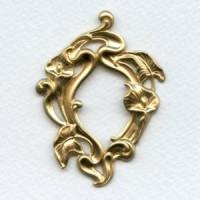 ^Calla Lilies Large Framework Raw Brass 65mm (1)