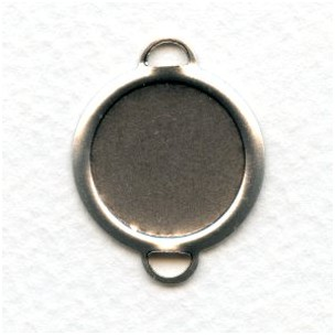 ^Individual Settings 18mm Oxidized Silver (6)