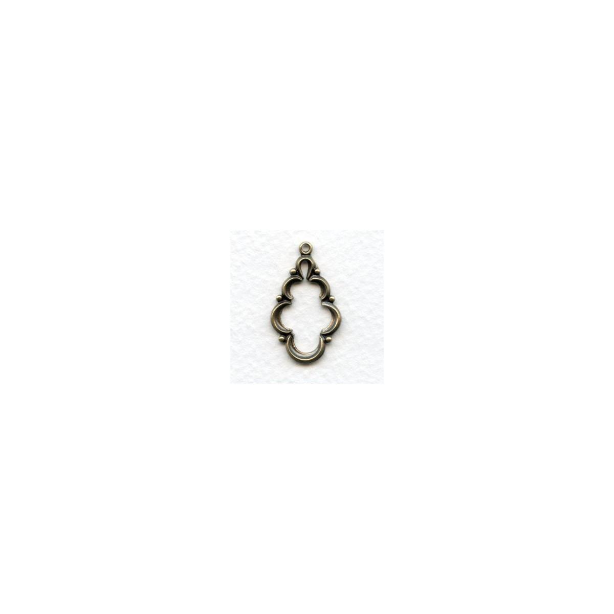 Endless Possibilities! Open Center Pendant Oxidized Brass